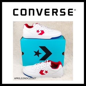 ❗️6-HOUR SALE❗️CONVERSE WHITE LEATHER LOW TOPS A3C